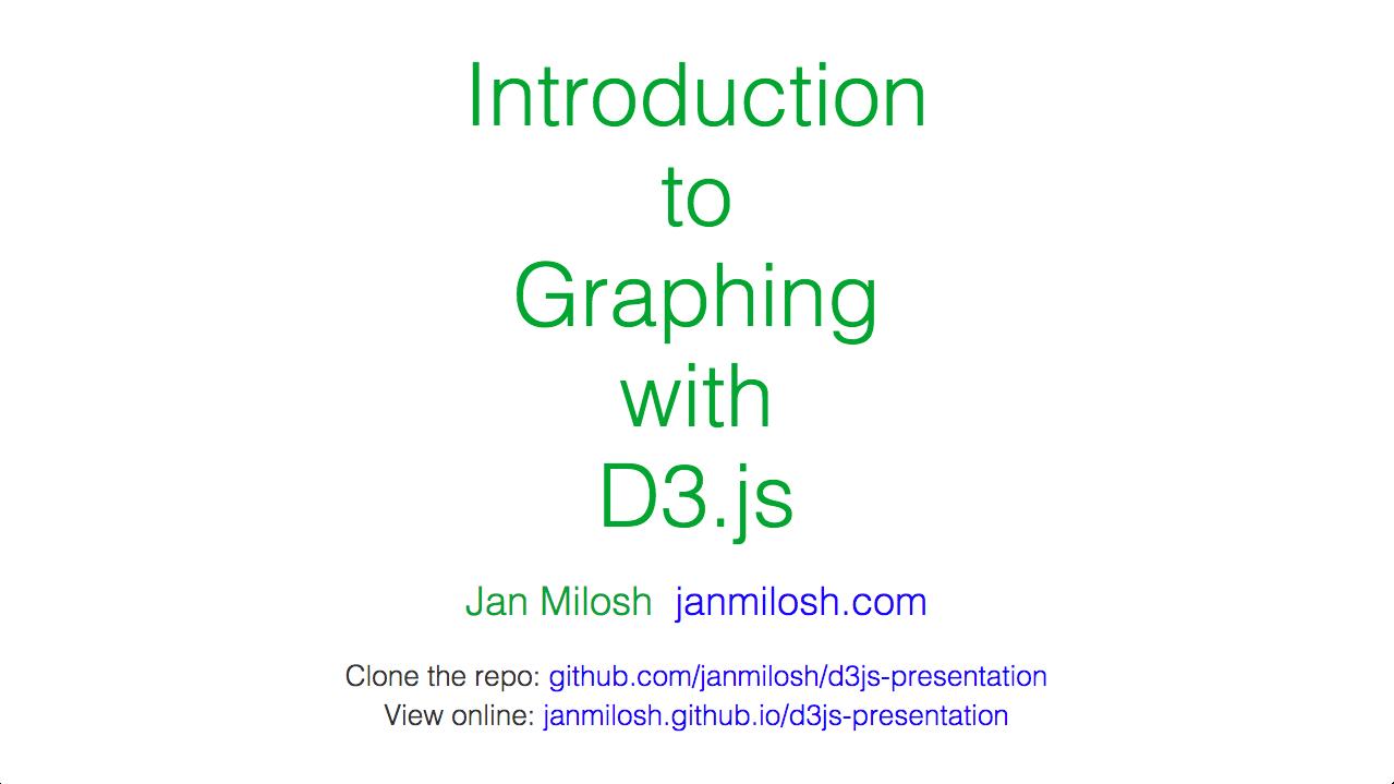 D3.js presentation