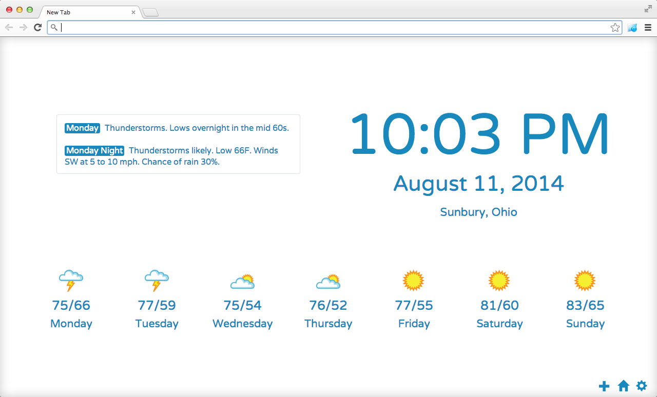 Weather Chrome Extension App.