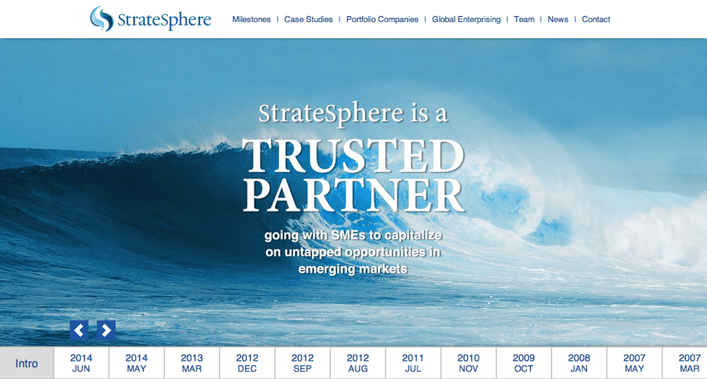 StrateSphere.com CMS website